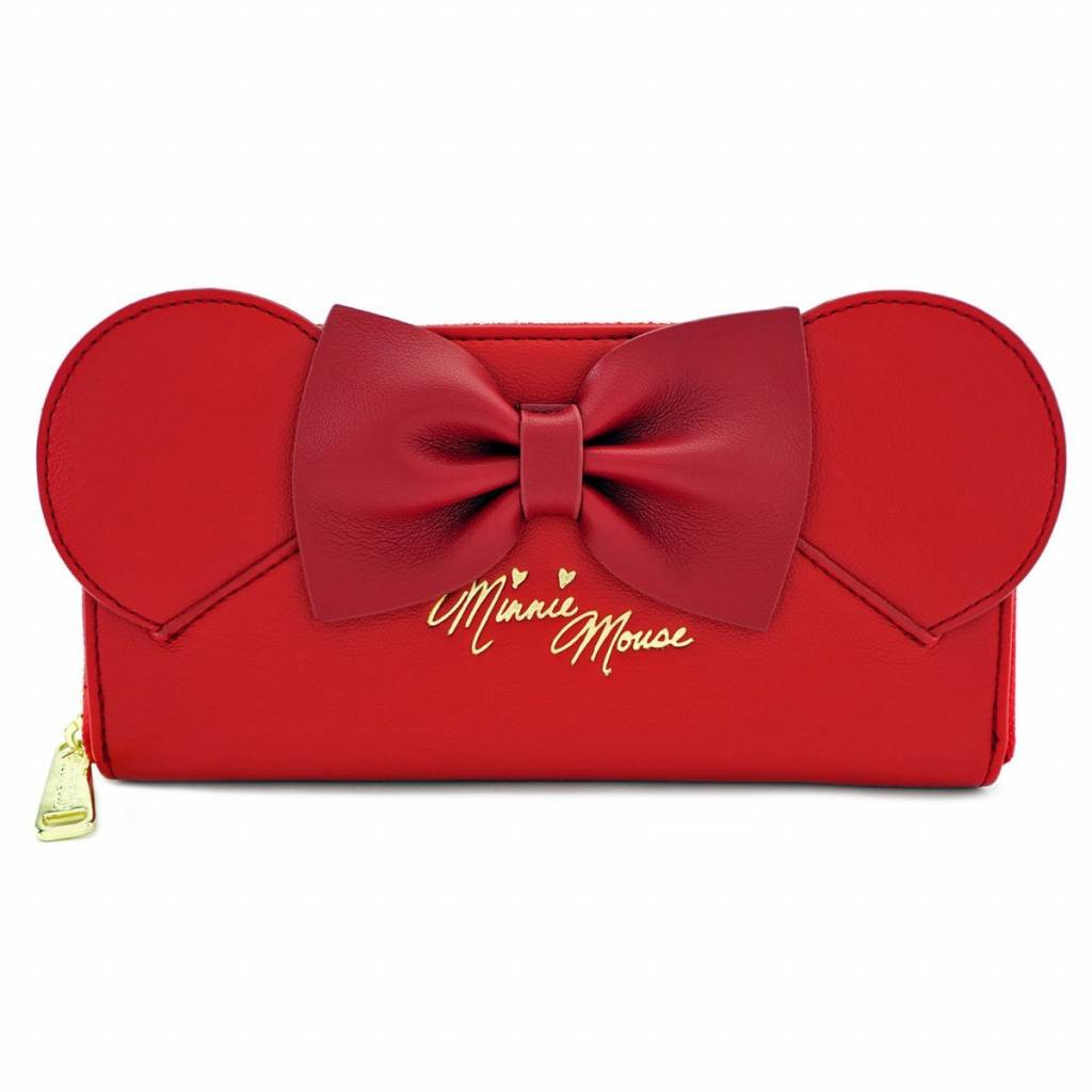 Loungefly x Red Minnie Ears & Bow Red Wallet / Portemonnee - Disney