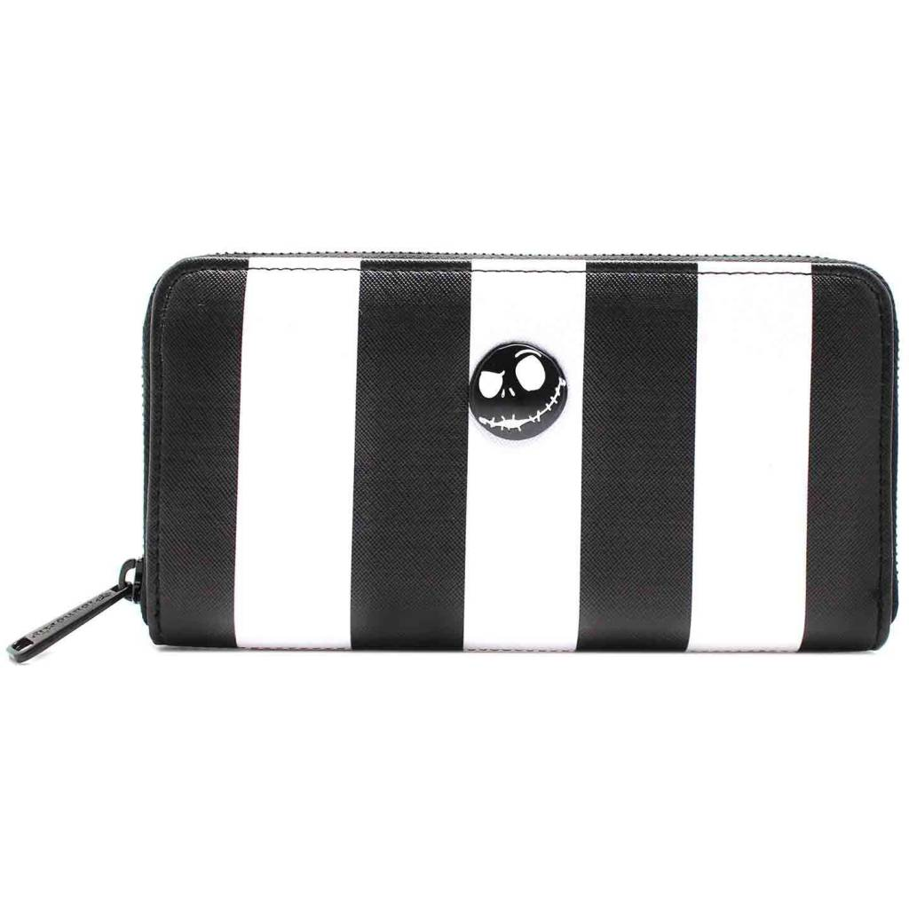 Loungefly Disney -Striped Zip Around Wallet / Portemonnee -Nightmare Before Christmas